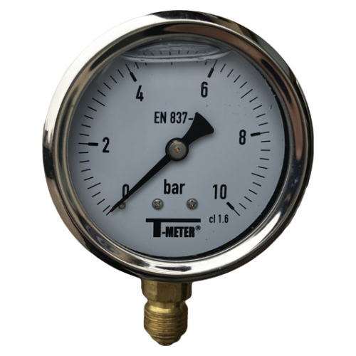 T-METER INOX F 600 bar mérőóra (63mm)